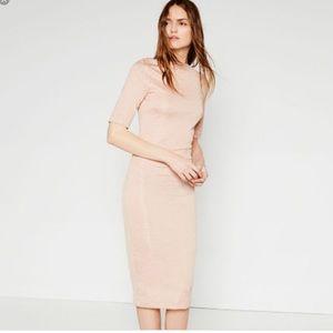 Zara Sheath Midi Dress.